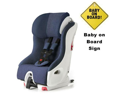 Clek FO12U1-BLW  foonf convertible seat w Baby on Board Sign - blue moon