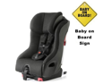 Clek FO12U1-BK2B  foonf convertible seat w Baby on Board Sign - drift