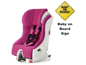 Clek FO12U1-PKW  foonf convertible seat w Baby on Board Sign - snowberry