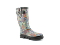 Western Chief Boho Floral Womens Size 8 Gray Rubber Rain Boots UK 5.5 EU 39