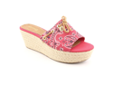 Sperry Top Sider Hillsboro Womens Size 10 Red Textile Wedge Sandals Shoes