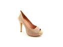 Vince Camuto Moda Womens Size 5 Nude Open Toe Textile Platforms Heels Shoes