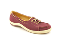 Keds Rapture Womens Size 6 Burgundy Moc Nubuck Leather Loafers Shoes UK 3.5