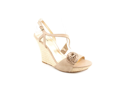 Guess Latonia3 Womens Size 10 Beige Open Toe Leather Wedge Sandals Shoes
