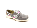 Sperry Top Sider Bluefish Youth Girls Size 13 Gray Moc Boat Shoes New/Display