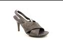 Donald J Pliner Nola Womens Size 6.5 Gray Open Toe Leather Open Toe Heels Shoes