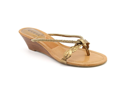 Guess Unetta Womens Size 5 Bronze Open Toe Wedge Sandals Shoes New/Display