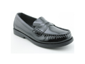Sperry Top Sider Colton Youth Boys Size 1.5 Black Moc Leather Loafers Shoes