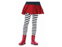 Kids girls black white stripe tights youth size - [LARGE] Leg Avenue