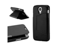 Black PU Leather Magnetic Flip Cover Case stand for Samsung Galaxy S4 i9500