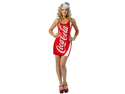 Women's Coca Cola Dress Adult Costume