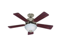 "HUNTER 20180 Hunter 20180 42"" kensington brushed nickel ceiling fan with light kit"