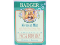 Moroccan Mint Face & Body Soap - Badger - 4 oz - Bar