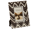 7 x 9 Black And White Zig-Zag Design Picture Frame