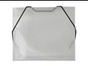 Clear Grid Plastic Elastic Closure Portfolios - CD case size (5 x 5 5/8 x 3/8) - 24 per pack