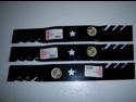 Oregon 95-605 (3 PACK) Gator 3-in-1 Mulcher Blades To Replace Craftsman, Poulan, Husqvarna Blade 187254, 187256