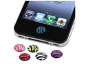 eForCity eForCity 6-Piece Zebra Patterns Home Button Sticker Compatible With Apple iPhone 4S/ iPad Mini/iPad mini with Retina display (iPad Mini 2)