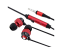 eForCity Universal 3.5mm In-Ear Stereo Headphone Earphone w/ On-off & Mic Compatible With Blackberry Z10, Red / Black