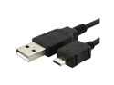 Black Charging USB Sync Transfer Data Cable compatible with HTC ThunderBolt 4G