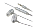 Silver .5mm In-Ear Stereo Headset w/ On-off & Mic compatible with Samsung© Infuse 4G