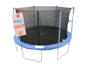 8'  Trampoline Enclosure Safety Net Fits For 8 FT. Round Frames Using 6 Poles or 3 Arches (poles not included)