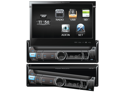 POWER ACOUSTIK PDR-780T DIGITAL RECEIVER 1-DIN W/ FLIP-UP LCD & ANALOG TV TUNER