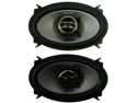 "ALPINE SPS-406 4X6"" 2-WAY SPEAKERS PAIR POLY-MICA WOOFER CONE W/ RUBBER SURROUND"