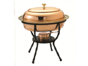 Copper Oval Décor Copper 6 Quart Chafing Dish