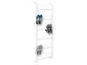 White 18 Pair Over The Door Shoe Rack - White