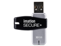 Imation Secure 32 GB USB 2.0 Flash Drive - Black, Silver