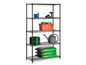 Five Tier Black Storage Shelves 800Lb
