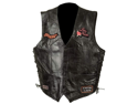 Diamond Plate Ladies' Rock Design Genuine Leather Vest