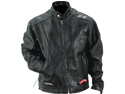 Diamond Plate Rock Design Genuine Buffalo Leather Motorcycle Jacket