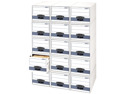 Bankers Box Stor/Drawer Steel Plus Storage Box, Letter, White/Blue, 6/Carton
