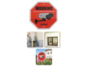 SecurityMan Surveillance Warning Signs, English (2 Pack)