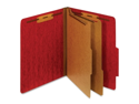"Globe-Weis  Classification FolderLetter - 8.50"" x 11"" Sheet Size - 1"" Folder Fastener Capacity - 2 Dividers - 25 pt. - Pressboard - Red - 1 Each"