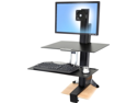 Ergotron - Ergotron WorkFit-S Single HD with Worksurface+