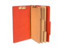 Acco Brands- Inc. ACC16038 Classification Folders- 4in. Exp- Legal- 3 Partition- Earth Red