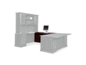 "Governor'S Series Executive ""U"" Workstation Bridge, 50W X 24D X 30H, M"