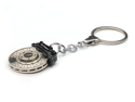 Racing Brake Disc Keychain w/ Omega Shape Keyring Black Caliper