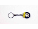 Ceramic Brake Disc Keychain w/Omega Key Ring Yellow Caliper