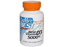 Doctor's Best Best Vitamin D3 (5000IU) 180 SoftGels