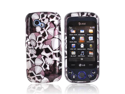 Silver Skulls Black Glossy Hard Plastic Snap On Case Cover For LG Neon II W370