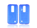 Argyle Blue TPU Crystal Gel Silicone Case Cover For LG Nitro HD