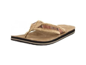 Sanuk Men's Fraid So Flip Flop,Red/Brown,12 M US