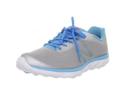 New Balance Women's WW695 Walking Shoe,Silver/Blue,6.5 B US