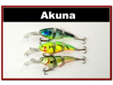 Lot of 3 Bass Trout Pike Fishing Lure Swimbait Tackle