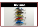 "Lot of 5 3.1"" Bass Pike Trout FAT Fishing Lure Tackle"