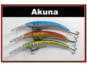 "Lot of 3 5.9"" Deep Diving Pike Bass Fishing Lure Bait D"