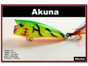 """[FLA 48] 2.4"""" Hand-Painted Holographic Topwater Fishing Popper Lure w/ matching feather tails"""